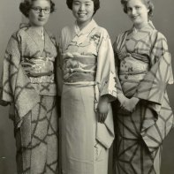 Young Janell in traditional Japanese clothing.