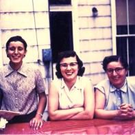 Pat Landis, Ruth Alice Steele, and Janell circa 1950..