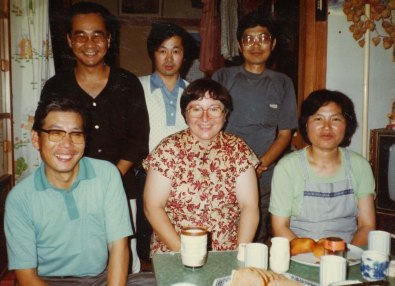 1982 – All the non-pro apprentices (except Mr. Amano) and Hiroi-sensei (bottom left) and his wife (bottom right).