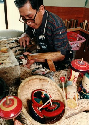Hiroi at work. 1980s.