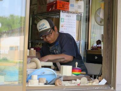 Maeda-san at work.