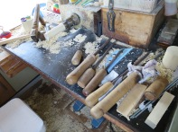 Tools for topmaking.