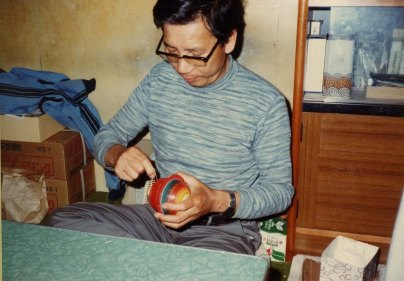 Hiroi-sensei at work.