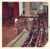 Janell speaking to Junior High students at Miyagi Gakuin Joshi Daigaku campus